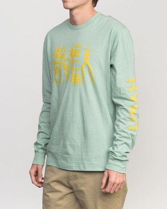 2 Big Torn Long Sleeve T-Shirt Green M453PRBI RVCA