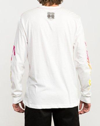 5 Campbell Bros Long Sleeve T-Shirt White M453QRCA RVCA