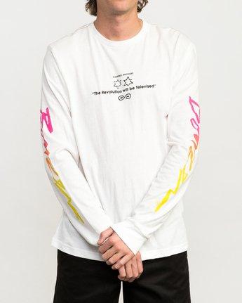 2 Campbell Bros Long Sleeve T-Shirt White M453QRCA RVCA