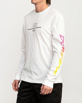 3 Campbell Bros Long Sleeve T-Shirt White M453QRCA RVCA