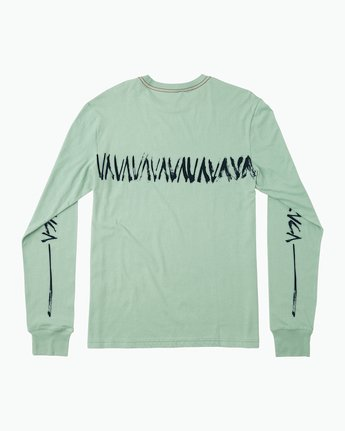 1 Dry Brush Long Sleeve T-Shirt Green M453QRDR RVCA