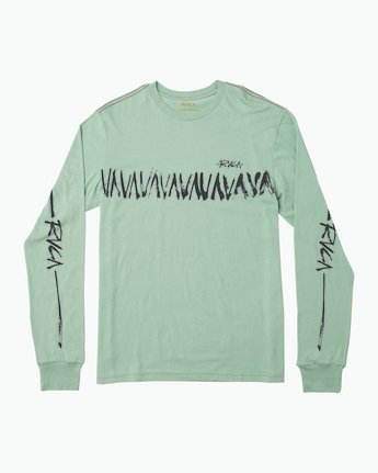 0 Dry Brush Long Sleeve T-Shirt Green M453QRDR RVCA
