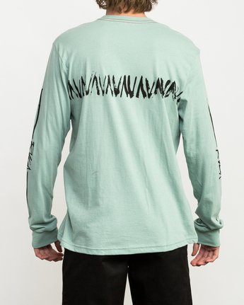5 Dry Brush Long Sleeve T-Shirt Green M453QRDR RVCA