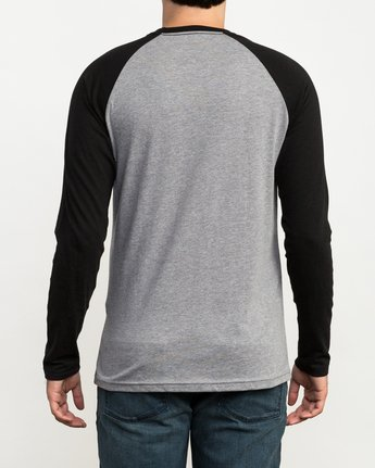 3 Chest Crest Raglan T-Shirt Black M454QRCH RVCA