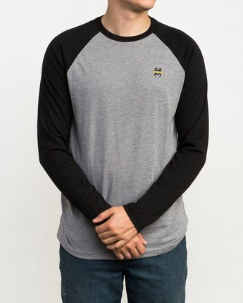 1 Chest Crest Raglan T-Shirt Black M454QRCH RVCA