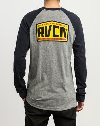 4 Roadside Baseball Raglan T-Shirt Grey M454SRRO RVCA