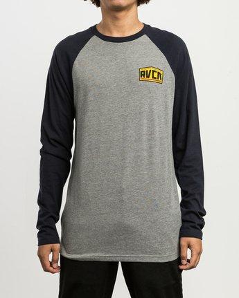 2 Roadside Baseball Raglan T-Shirt Grey M454SRRO RVCA