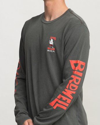5 Birdwell Collab 02 Long Sleeve T-Shirt Black M456PRCB RVCA