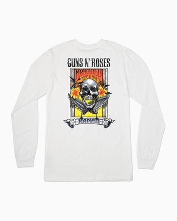 0 Axis Guns N Roses Long Sleeve T-Shirt White M459SRAX RVCA