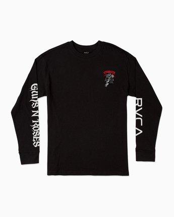 1 George Thompson Guns N Roses Long Sleeve T-Shirt Black M459SRTH RVCA