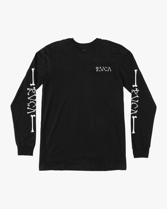 1 Bonezy Long Sleeve T-Shirt Black M460PRBO RVCA