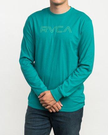 2 Pinner Long Sleeve T-Shirt Green M460QRRV RVCA