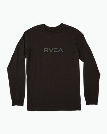 0 Small RVCA Embroidered Long Sleeve T-Shirt Black M465SRSM RVCA