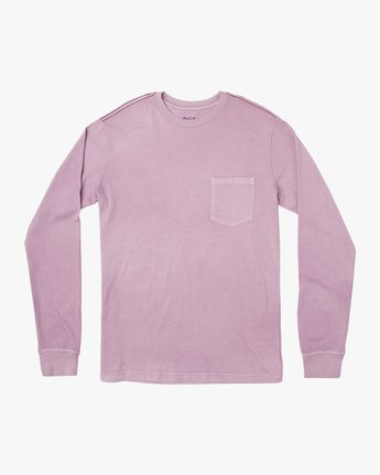 0 PTC Pigment Long Sleeve T-Shirt Purple M467TRPT RVCA