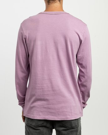 3 PTC Pigment Long Sleeve T-Shirt Purple M467TRPT RVCA