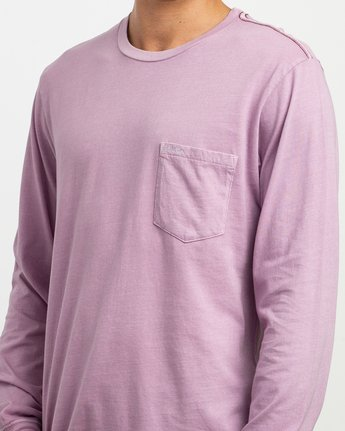 4 PTC Pigment Long Sleeve T-Shirt Purple M467TRPT RVCA