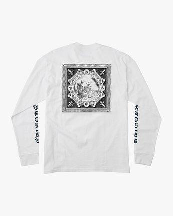 0 JeanJean Detention Long Sleeve T-Shirt White M492QRDE RVCA