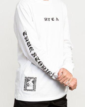 5 JeanJean Detention Long Sleeve T-Shirt White M492QRDE RVCA