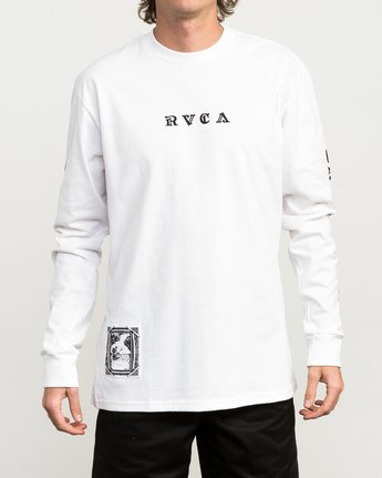 2 JeanJean Detention Long Sleeve T-Shirt White M492QRDE RVCA