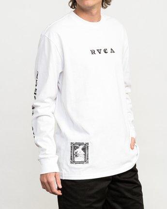 3 JeanJean Detention Long Sleeve T-Shirt White M492QRDE RVCA