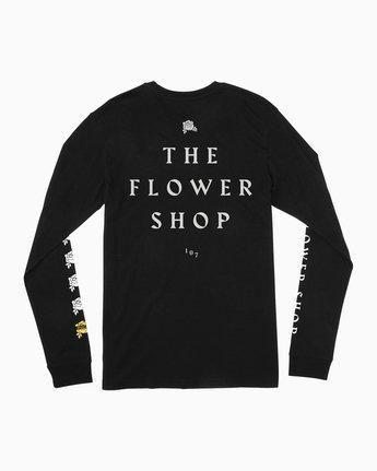 0 The Flower Shop Long Sleeve T-Shirt Black M492QRFS RVCA