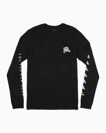 1 The Flower Shop Long Sleeve T-Shirt Black M492QRFS RVCA