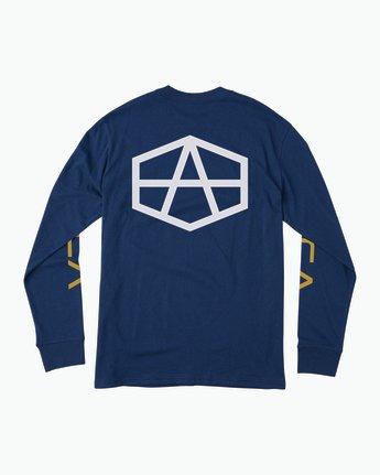 0 Reynolds Hex Long Sleeve T-Shirt Blue M492QRRE RVCA