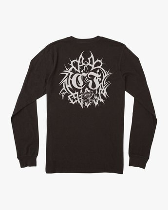 1 Fletcher Tribe Long Sleeve T-Shirt Black M492TRFT RVCA