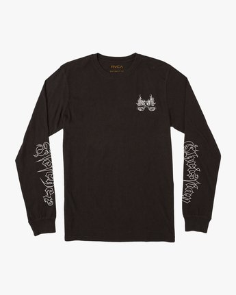0 Fletcher Tribe Long Sleeve T-Shirt Black M492TRFT RVCA