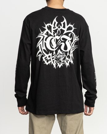 5 Fletcher Tribe Long Sleeve T-Shirt Black M492TRFT RVCA