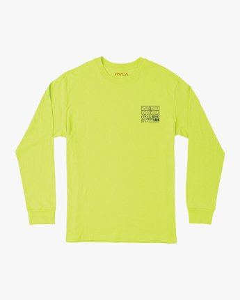 1 Super Fun Long Sleeve T-Shirt Yellow M492TRSU RVCA
