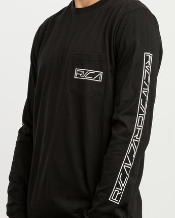 6 Reflector Long Sleeve T-Shirt Black M495SRRE RVCA