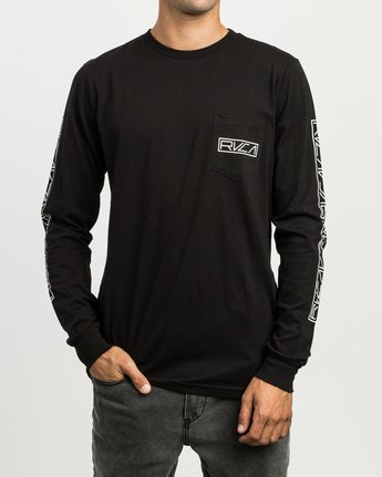 3 Reflector Long Sleeve T-Shirt Black M495SRRE RVCA