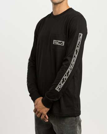 4 Reflector Long Sleeve T-Shirt Black M495SRRE RVCA