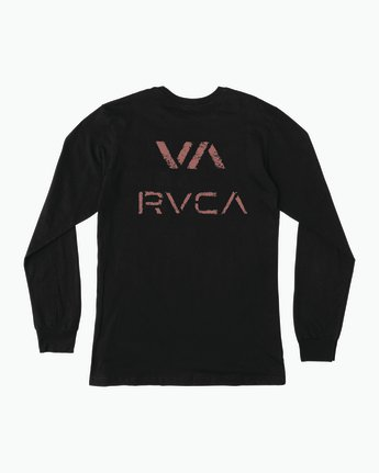 0 VA Spray Long Sleeve Pocket T-Shirt Black M495SRVA RVCA