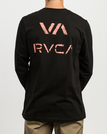 4 VA Spray Long Sleeve Pocket T-Shirt Black M495SRVA RVCA