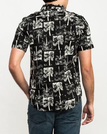 3 Oblow Palms Button-Up Shirt Black M501QROP RVCA