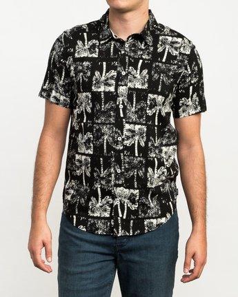 1 Oblow Palms Button-Up Shirt Black M501QROP RVCA