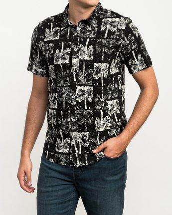 2 Oblow Palms Button-Up Shirt Black M501QROP RVCA