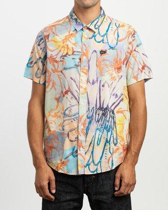 1 Sage Vaughn Floral Button-Up Shirt Multicolor M501TRVF RVCA