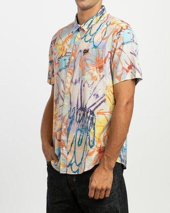 2 Sage Vaughn Floral Button-Up Shirt Multicolor M501TRVF RVCA