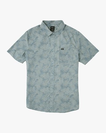 0 Shimmy Button-Up Shirt Blue M505SRSH RVCA