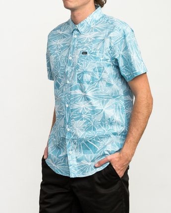 2 Blade Printed Button-Up Shirt Blue M508QRBL RVCA
