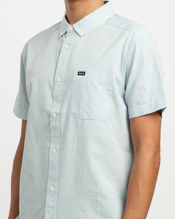 4 That'll Do Dobby Button-Up Shirt Blue M511TRDB RVCA