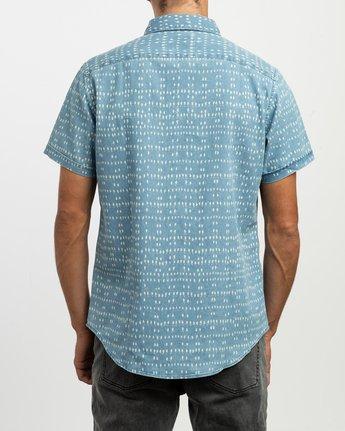 3 Nakama Dot Button-Up Shirt Blue M517TRND RVCA