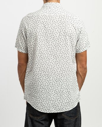3 Ficus Floral Button-Up Shirt White M520TRBF RVCA