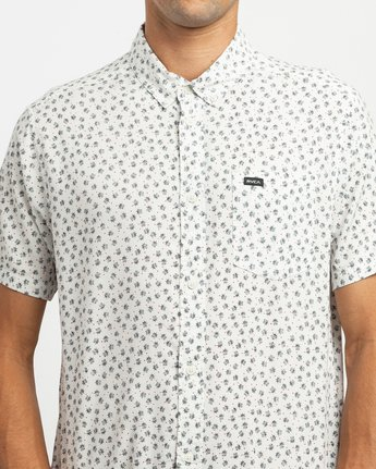 4 Ficus Floral Button-Up Shirt White M520TRBF RVCA