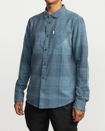 2 Good Stuff Neutral Flannel Blue M525QRGS RVCA