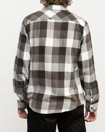 3 Campbell Brothers Buffalo Girl Plaid Shirt Black M552QRBU RVCA