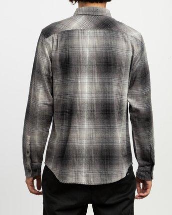 3 Muir Plaid Long Sleeve Flannel Black M552TRMF RVCA